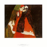 Cardinal and Nun, c.1912 Julisteet tekijn Egon Schiele