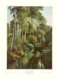 Gustave Courbet - Forest Brook with Does - Reprodüksiyon