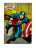 Marvel Comics Retro: Captain America Comic Panel, U.S. naval Hospital (aged) Prints