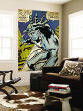 Marvel Comics Retro: Silver Surfer Comic Panel (aged) Mural