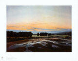 The large Enclosure at Dresden Collectable Print by Caspar David Friedrich