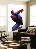 Spider-Man Swinging Mural