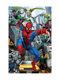 Spider-Man, Doctor Octopus, Green Goblin, Vulture, Black Cat, Electro, Lizard, Rhino and Sandman Affiches