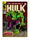 Marvel Comics Retro: The Incredible Hulk Comic Book Cover No.105 (aged) Print