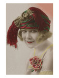French Portrait Hand Colored Postcard Prints