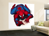Spider-Man Crawling Premium Wall Mural (Large)