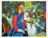 Girl with Aquarium, c.1914 Posters by Auguste Macke