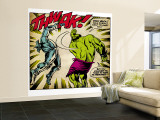 Marvel Comics Retro: The Incredible Hulk Comic Panel, Fighting, Thwak! (aged) Wall Mural – Large
