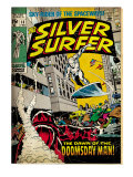 Marvel Comics Retro: Silver Surfer Comic Book Cover 13 (aged) Prints