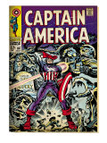 Marvel Comics Retro: Captain America Comic Book Cover 107, with Red Skull and Bucky (aged) Prints