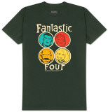 Fantastic Four - Circle Portraits T-Shirt