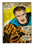 Marvel Comics Retro: Fantastic Four Comic Panel, Thing, Mr. Fantastic (aged) Prints