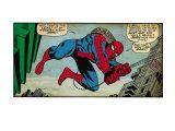 Retro Marvel-serier: serieruta från den fantastiske Spindelmannen (åldrad) Posters