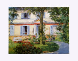The House in Rueil, c.1882 Prints by Édouard Manet