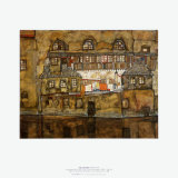 Wall of House by the River, c.1915 Posters by Egon Schiele
