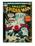 Marvel Comics Retro: The Amazing Spider-Man Comic Book Cover 151, Flooding (aged) Art