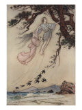 The Wind In The Pine Tree Print by Warwick Goble