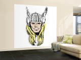 Marvel Comics Retro: The Mighty Thor (aged) Wall Mural – Large