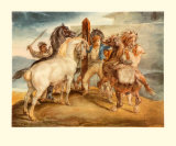 Horse Market Collectable Print by Th&#233;odore G&#233;ricault