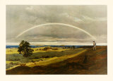 Landscape with Rainbow Collectable Print by Caspar David Friedrich