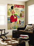Marvel Comics Retro: Love Comic Panel, Spinster (aged) Mural