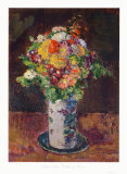 Meadow Flowers in a Clay Vase Collectable Print by Anton Faistauer