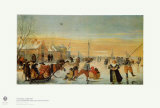 Sledding and Ice Skating Lámina coleccionable por Hendrick Avercamp