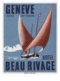 Beau Rivage Hotel Geneve Switzerland Print