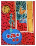 Red Interieur, Still Life on a Blue Table, c.1947 Posters av Henri Matisse