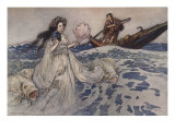 Urashima Poster by Warwick Goble