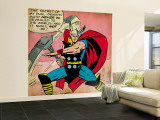 Marvel Comics Retro: Mighty Thor Comic Panel (aged) Wall Mural – Large