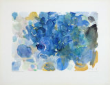 Fugal Blue Samlertryk af Ernst Wilhelm Nay