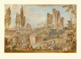 Rome, Shepherds on the Palatin Collectable Print by Charles Joseph Natoire