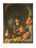 Woman Cleaning Carrots Collectable Print by Gerard Dou