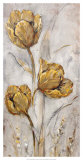 Golden Poppies on Taupe II Poster by Tim O&#39;toole