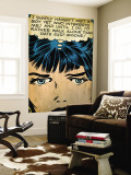 Marvel Comics Retro: Love Comic Panel, Proud Single Woman (aged) Wall Mural
