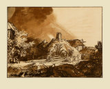 Landcsape and Thunderstorm Collectable Print by  Rembrandt van Rijn