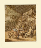 Dutch Farmer s Inn Samlertryk af Adriaen Ostade