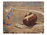 Silky And The Snail Art by Eileen Soper