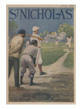 """Illustration Titled """"Play Ball"""" Baseball Player Waiting For Pitch Posters"""