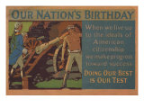 Our Nation's Birthday Posters