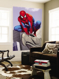 Spider-Man In the City on Gargoyle Wall Mural