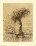 Gleaning Woman Samlertryk af Jean-François Millet