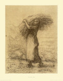 Gleaning Woman Collectable Print by Jean-François Millet