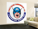 Marvel Comics Retro: Captain America '41 for Class President (aged) Premium Wall Mural (Large)