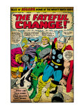 Marvel Comics Retro: Mighty Thor Comic Panel, Tales of Asgard, the Fateful Change! (aged) Posters
