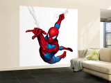 Spider-Man Swinging Muraltryck – Stort