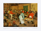 The Peasant Wedding Print by Pieter Bruegel the Elder