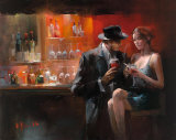 Evening in the Bar I Affiches par Willem Haenraets