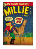Marvel Comics Retro: Millie the Model Comic Book Cover 34, Getting on a Horse (aged) Prints
